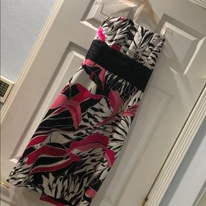 Strapless cocktail/ party dress